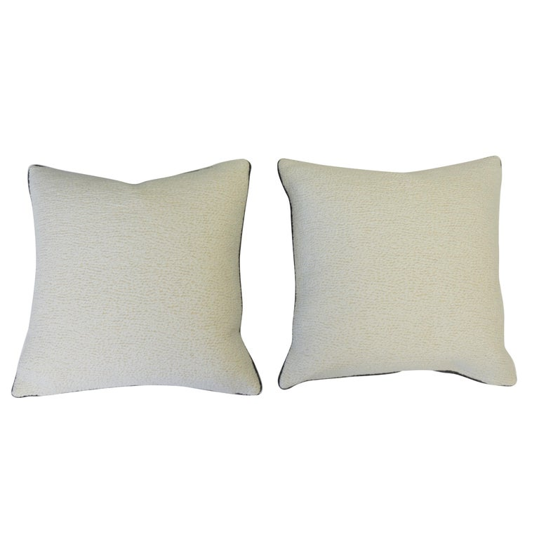 Black and White Geometric Patterned Pillows In Excellent Condition For Sale In Westport, CT