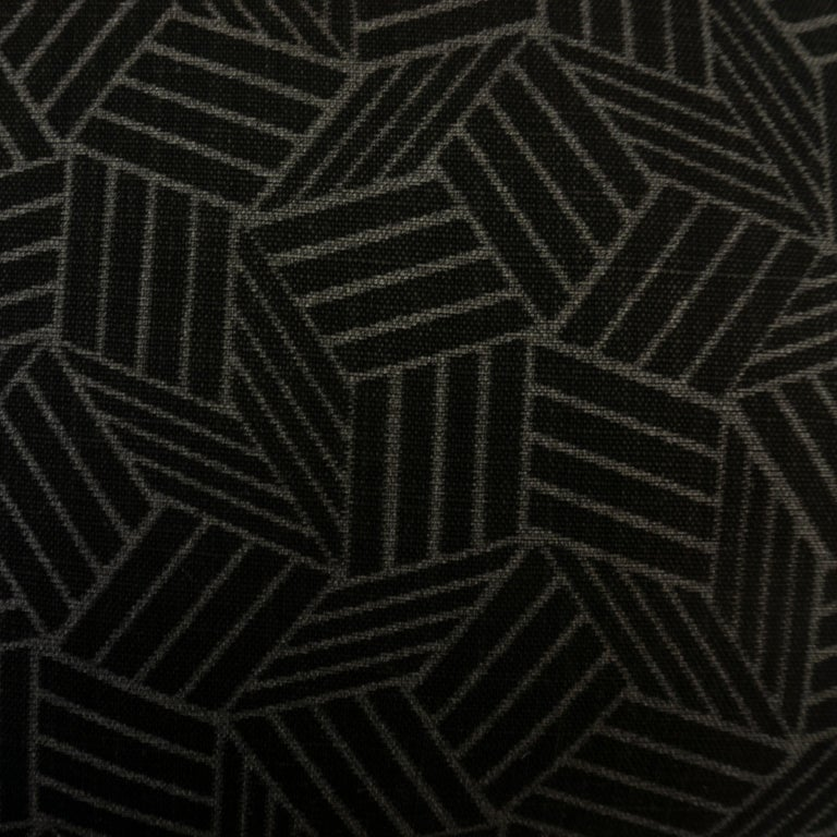 Contemporary Black and White Geometric Patterned Pillows For Sale