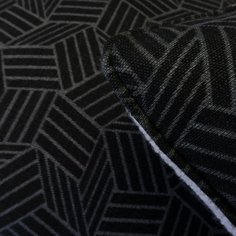 Black and White Geometric Patterned Pillows For Sale 1