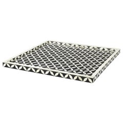 Black and White Geometric Serving Tray