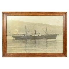 Antique Nautical Historical Picture of the Ship Virgen De Africa Cadiz, 1917