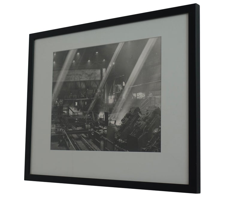 Black and White Industrial Factory Scene Photograph, American, 20th Century In Good Condition For Sale In San Francisco, CA