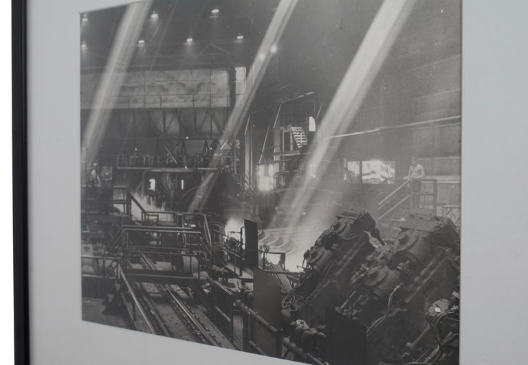 Paper Black and White Industrial Factory Scene Photograph, American, 20th Century For Sale