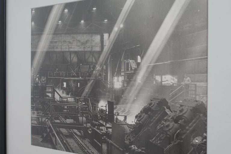 Black and White Industrial Factory Scene Photograph, American, 20th Century For Sale 1