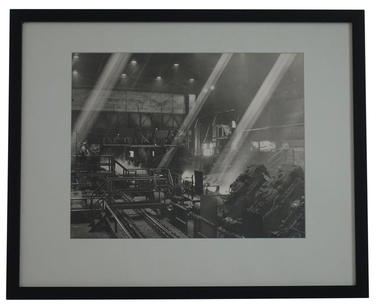 Black and White Industrial Factory Scene Photograph, American, 20th Century For Sale 3
