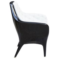 Black and White Jaime Hayon Contemporary Showtime Armchair Lacquered