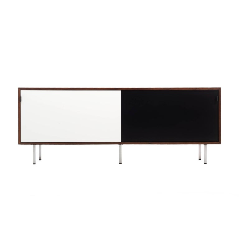 Black and White Knoll Credenza