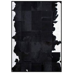 Black and White Luxurious customizable El Gordo Cowhide Area Floor Rug Small