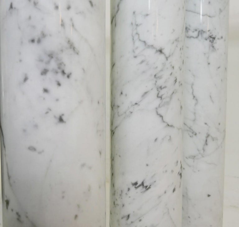 Black and White Marble and Glass Top Dining Tables For Sale 1