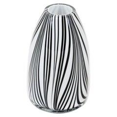 Black and White Midcentury Vase