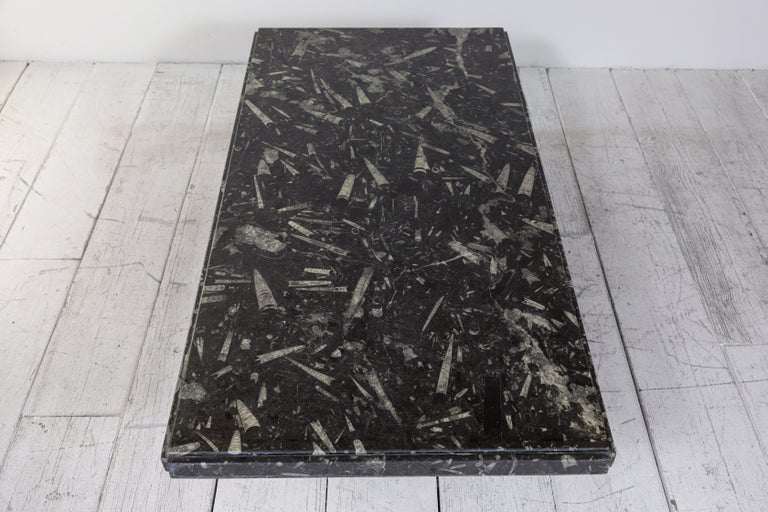20th Century Black and White Modernist Marble Cocktail Table