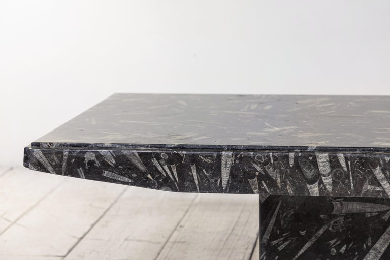 Black and White Modernist Marble Cocktail Table 1