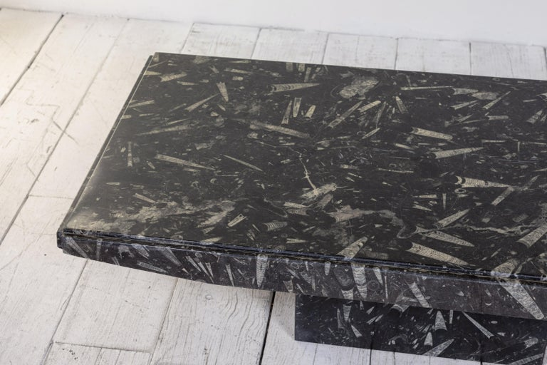 Black and White Modernist Marble Cocktail Table 4