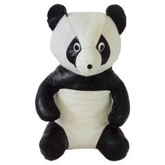 Black and White Omersa Style Leather Panda