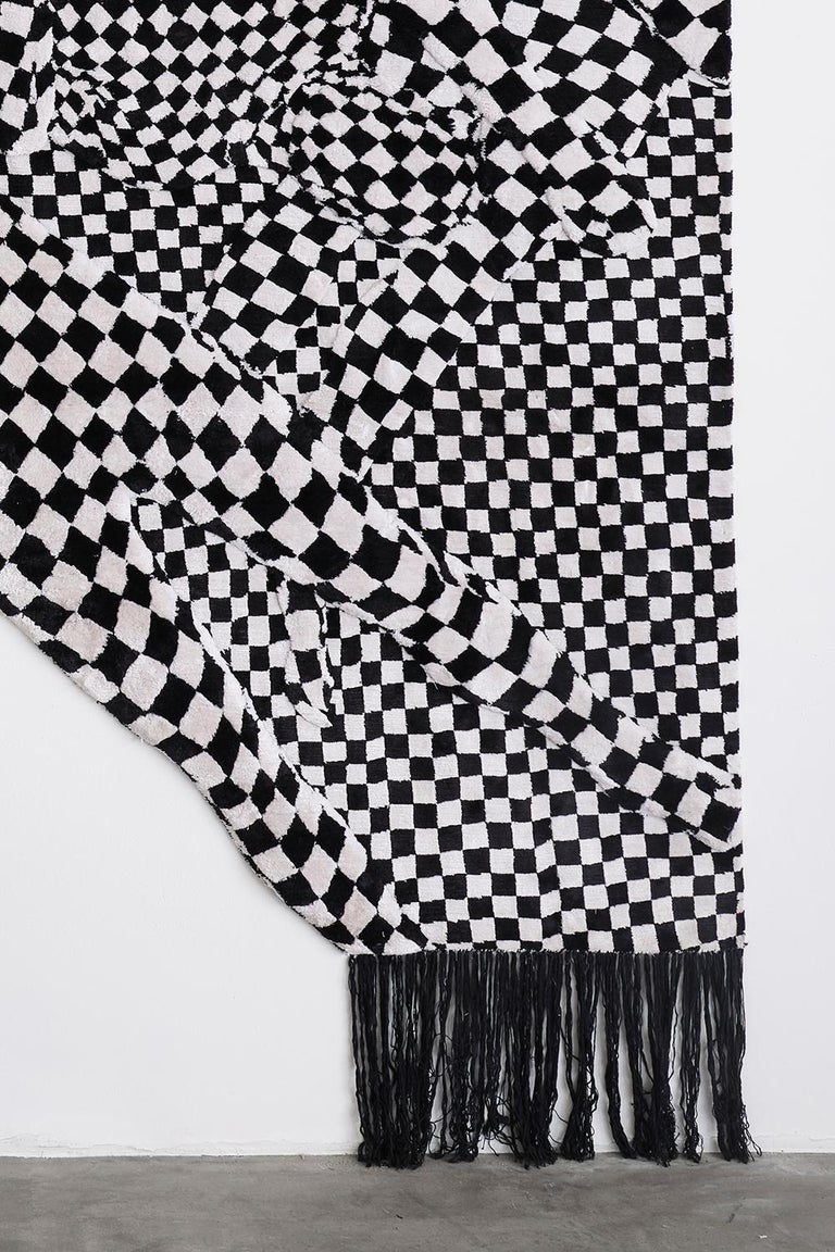 Black and White People Pattern In New Condition For Sale In Los Angeles, CA