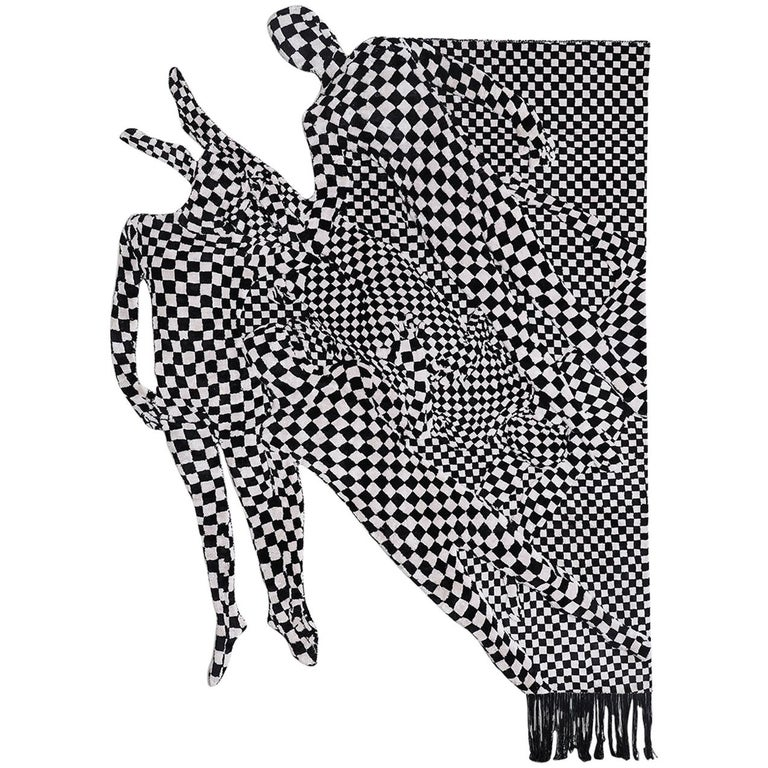 Black and White People Pattern For Sale