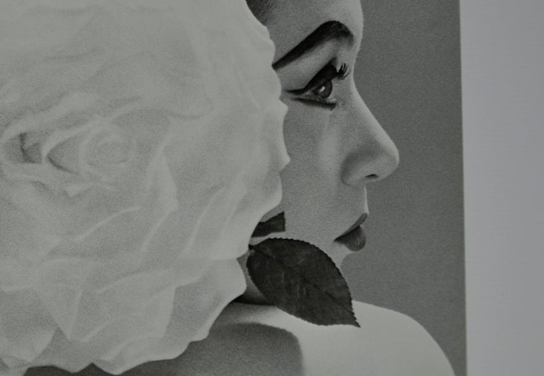 "Black and White Photo by Richard Avedon ""Barbara Mullen"" 1951 Sheet-Fed Gravure For Sale 3"