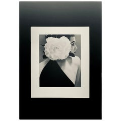 "Black and White Photo by Richard Avedon ""Barbara Mullen"" 1951 Sheet-Fed Gravure"