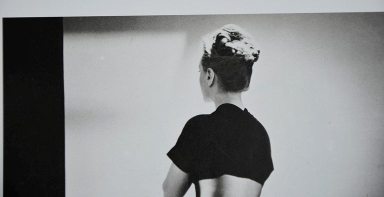 20th Century Black and White Photo Lithograph by Maurice Tabard for Harper's Bazaar, 1947 For Sale