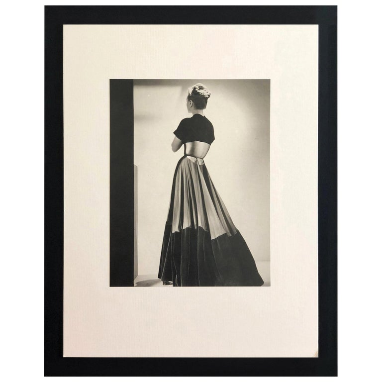 Black and White Photo Lithograph by Maurice Tabard for Harper's Bazaar, 1947 For Sale