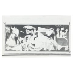 Black and White Photography of Picasso Painting 'Guernica', 1973