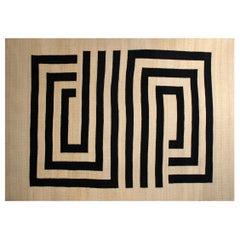Black and White Saasil Rug