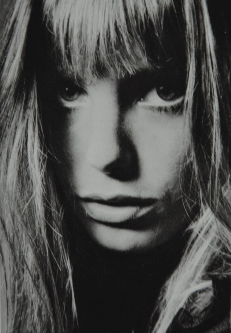 Paper Black and White Sheet Fed Gravure Photo by Jeanloup Sieff of Jane Birkin, 1968 For Sale