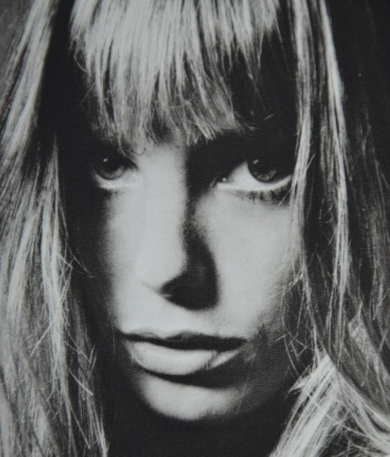 Black and White Sheet Fed Gravure Photo by Jeanloup Sieff of Jane Birkin, 1968 For Sale 4