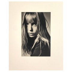 Black and White Sheet Fed Gravure Photo by Jeanloup Sieff of Jane Birkin, 1968