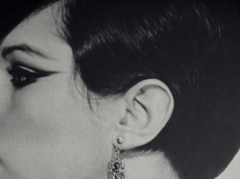 Black and White Sheet Fed Gravure Photo Philippe Halsman, Barbra Streisand 1970s For Sale 6