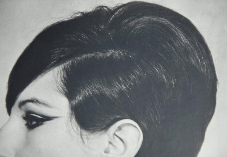 Black and White Sheet Fed Gravure Photo Philippe Halsman, Barbra Streisand 1970s For Sale 4