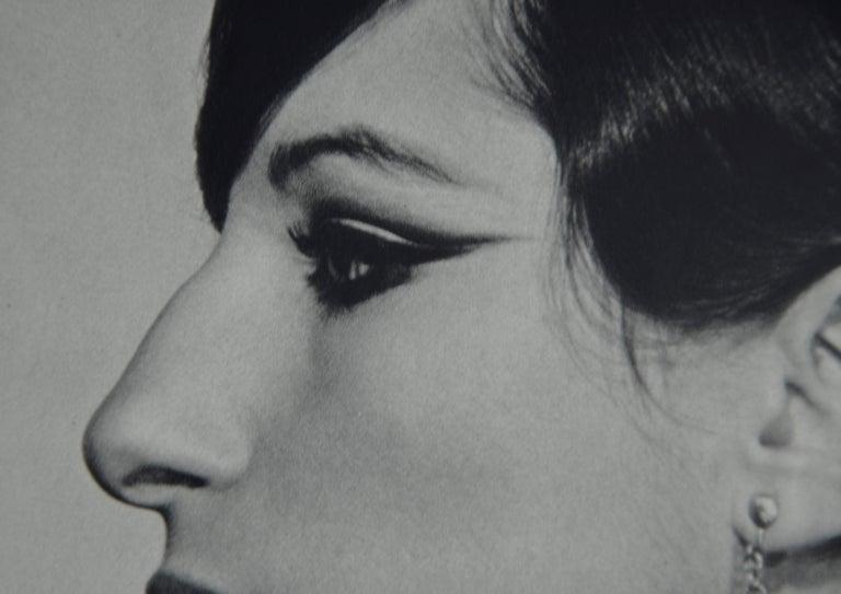 20th Century Black and White Sheet Fed Gravure Photo Philippe Halsman, Barbra Streisand 1970s For Sale