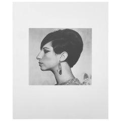 Black and White Sheet Fed Gravure Photo Philippe Halsman, Barbra Streisand 1970s