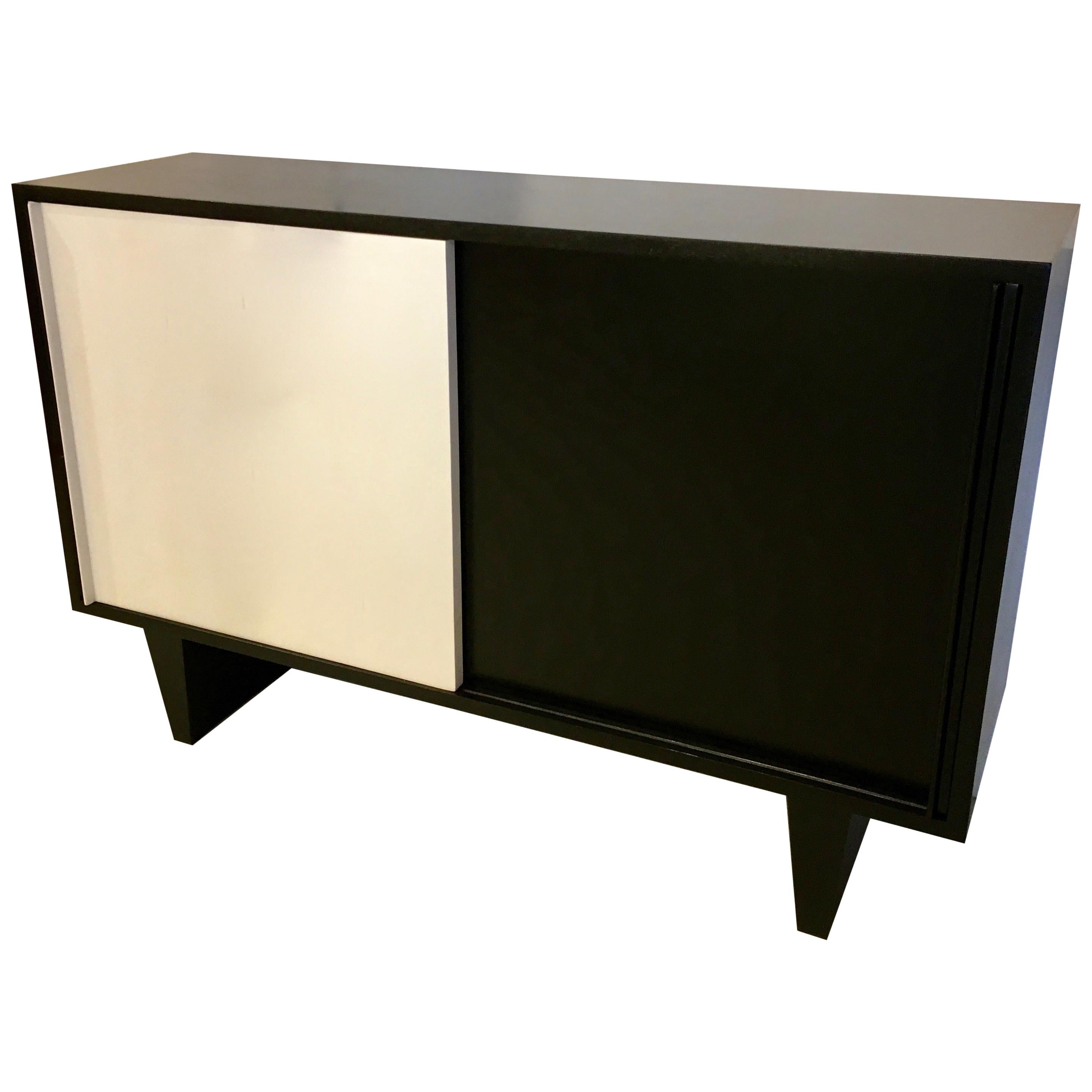 Black and White Sideboard by De Coene Courtrai, Belgium, 1955