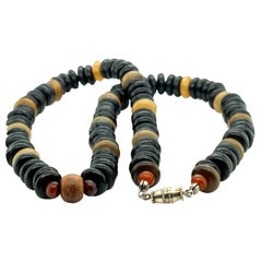Black and Yellow Bead Necklace