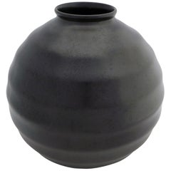 Black Art Deco Ceramic Vase