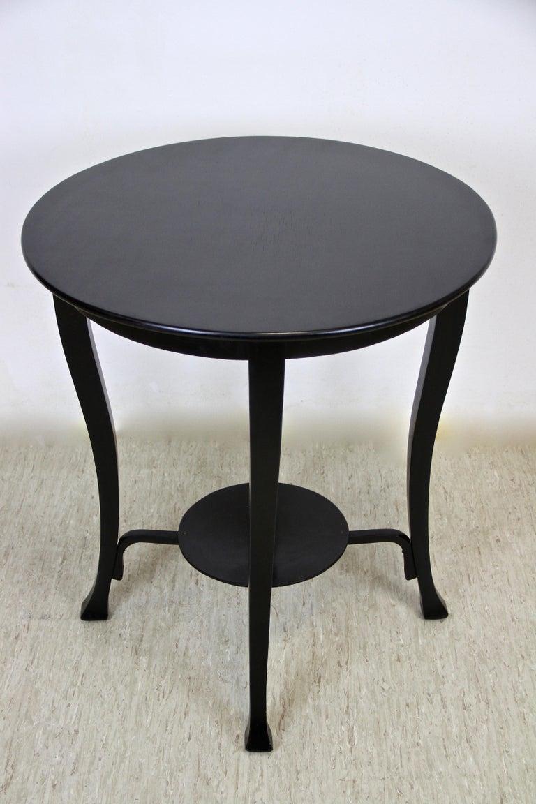 20th Century Black Art Nouveau Coffee/ Side Table by Jacob & Josef Kohn, Austria, circa 1910 For Sale