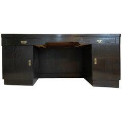 Black Art Nouveau Oak Wood Desk from 1925