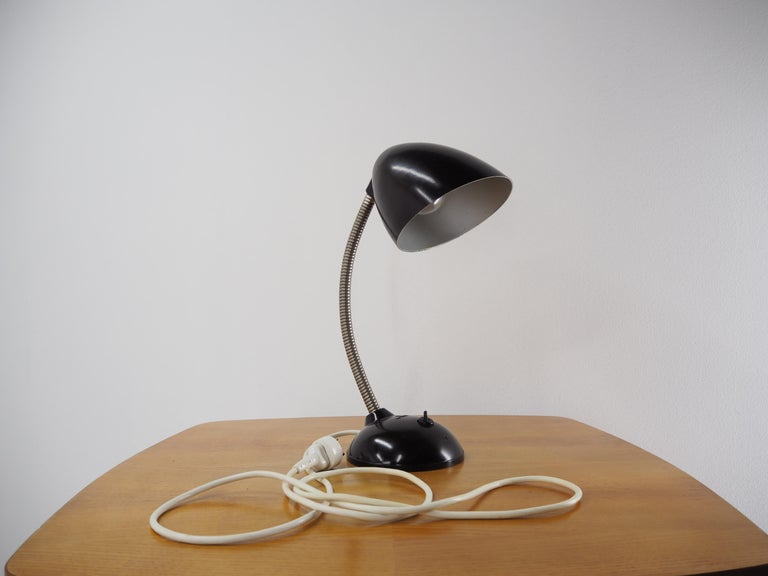Black Bakelite Table Lamp by Eric Kirkman Cole, Czechoslovakia, 1950s For Sale 3