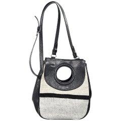 Black Balenciaga Leather & Canvas Crossbody Bag