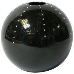 Black Ball Vase by Fabio Ltd