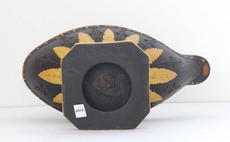 Appliqué Black Basalt and Gilt Vestal Lamp, Wedgwood, circa 1800 For Sale