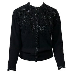 Black Beaded Cardigan