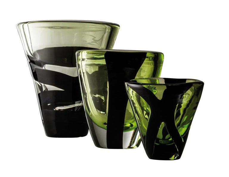 Peter Marino has collaborated with historic Italian glass company Venini to create black belt, a limited-edition collection of vases. Each vase is wrapped with painterly opaque black bands, giving these limited editions Marino's signature touch.