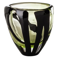 Black Belt Small Vase in Green and Black by Peter Marino
