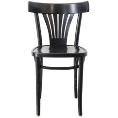 Black Bentwood Chair from ZPM Radomsko, Poland
