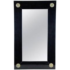 Black Biedermeier Mirror, Austria, circa 1860