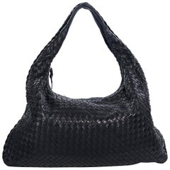 Black Bottega Veneta Intrecciato Hobo Bag