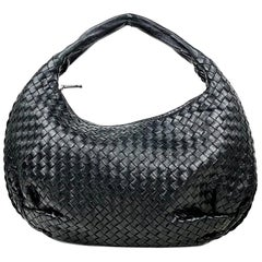 Black Bottega Veneta Medium Veneta Hobo Bag