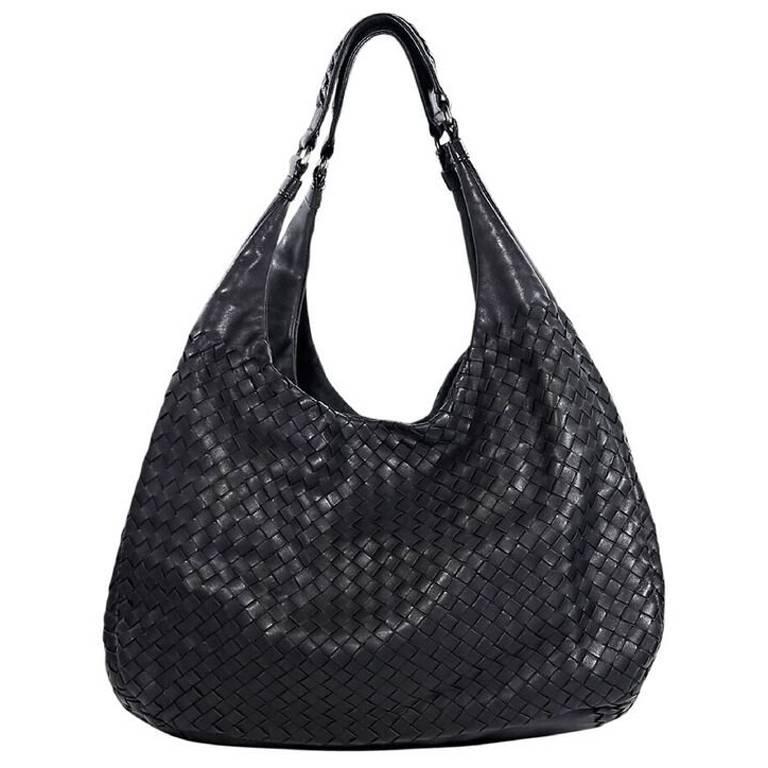 3078c0a09a21 Black bottega veneta woven leather shoulder bag for sale at stdibs jpg  768x768 Leather shoulder bottega